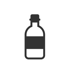 water bottle icon in flat style plastic soda vector image