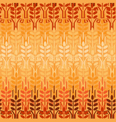 wheat seamless pattern agriculture background vector image