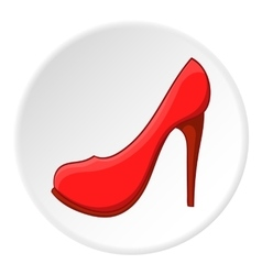 Women shoes icon cartoon style vector