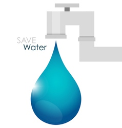 World water day concept with water drop vector image