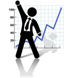businessman raises vector image vector image