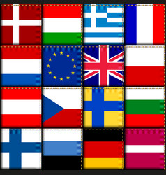 europe patchwork pattern vector image