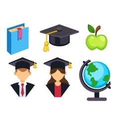Graduation education symbols vector image