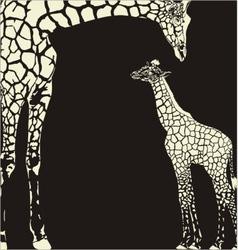 Inverse giraffe animal camouflage vector image vector image