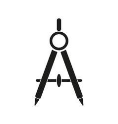 The divider icon Surveyor and geometry engineer vector image