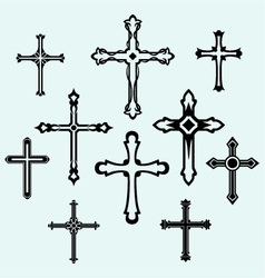 Cross set vector image vector image