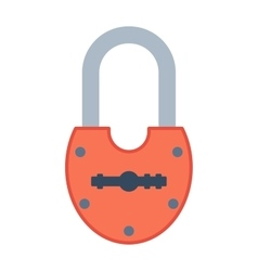 Lock icon on white vector image vector image