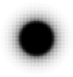 radial graphical black and white gradient halftone vector image vector image