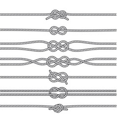 sailing knots horizontal borders or deviders vector image vector image
