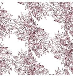 sketch of flowers on a light background Seamless vector image vector image