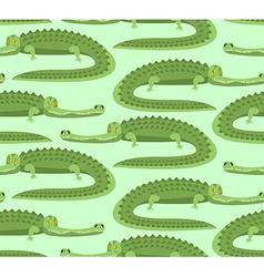 Crocodile seamless pattern Good caiman ornament vector image