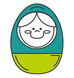 Egg wooden toy icon vector