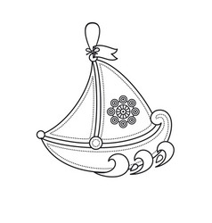 little sailboat childrens toy vector image