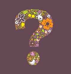 Question floral mark vector image vector image