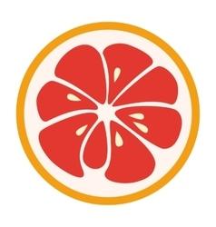 Red grapefruit stylish icon juicy fruit logo vector
