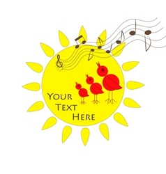 Sun birds and music vector image vector image