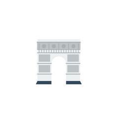 flat icon triumphal arch element vector image