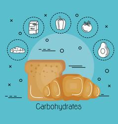 healthy eating design vector image vector image