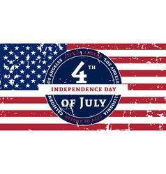Independens day LA color flag grunge vector image vector image