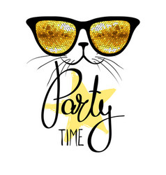 party time fanny cat vector image