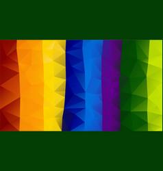 abstract irregular polygon background rainbow vector image