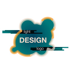 Abstract logo design template creative wavy vector