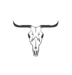 Abstract texas cow skull design template vector