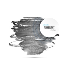 Abstract Watercolor Black And White Background vector