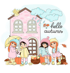 autumn gifts set vector image