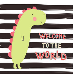 baby shower card welcome to the world vector image
