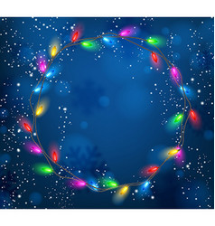 Background with Christmas garland of lights vector
