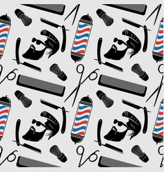 barbershop background seamless pattern vector image