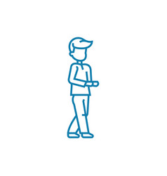Begging linear icon concept begging line vector