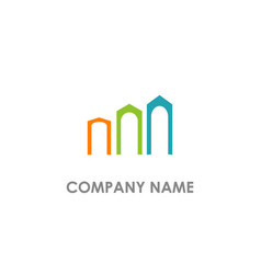 building abstract colored logo vector image