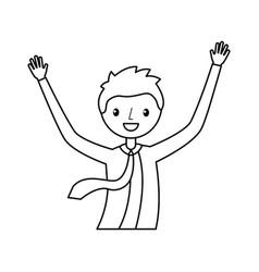 Businessman celebrating avatar character vector