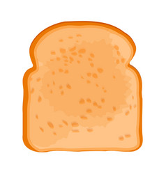 closeup of slice of bread isolated on vector image