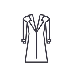 coattopcoat line icon sign vector image
