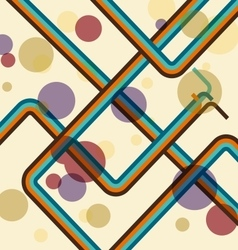 colorful line abstract retro background vector image