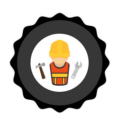 Construction worker avatar icon vector