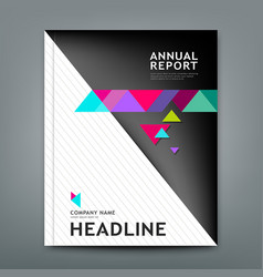 cover annual report design geometric template lay vector image