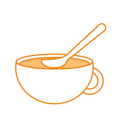 Cup of beverage refreshment aroma liquid with vector