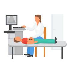 Doctor examine childs health ultrasound vector