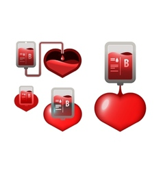 Donar blood icons vector image