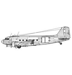 Douglas c-47 skytrain dakota dc-3 vector