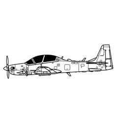 Embraer emb 314 a-29 super tucano vector
