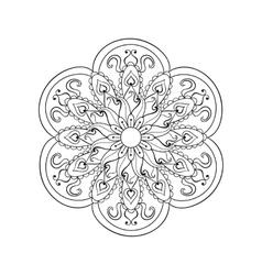 Entangle stylized arabic indian mandala hand vector