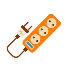 Extension cord icon energy label for web on white vector