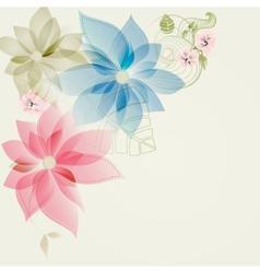Floral corner card vector