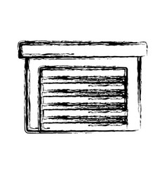 garage isolated symbol vector image
