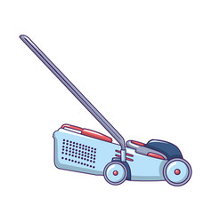 grass cutter icon cartoon style vector image